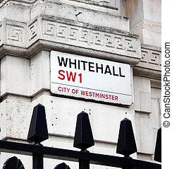 calle, whitehall, señal