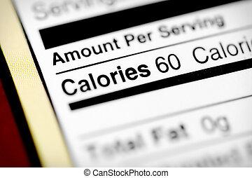 calorías, bajo
