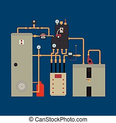 calor, bomba, sistema de calefacción