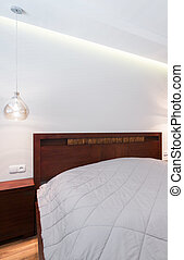 Cama blanca de lino