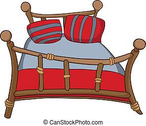 Cama de muebles de casa de cartón