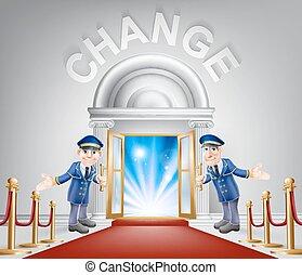 Cambia la entrada de alfombra roja