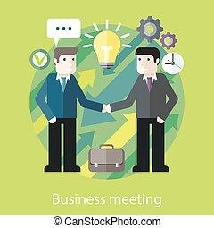 Cambio de ideas. Dos hombres de negocios están hablando