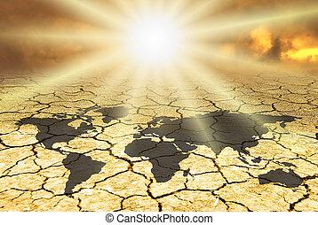 cambio, escena, conceptual, clima