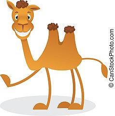 Camello de dibujos animados