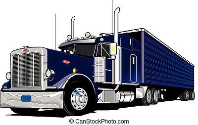 Camión de 18 ruedas-semi