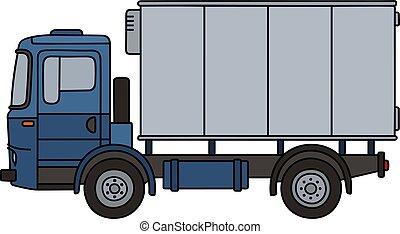 Camión de carga azul