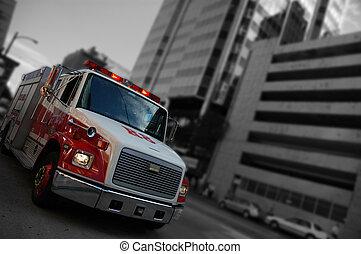 camión de fuego, emergencia