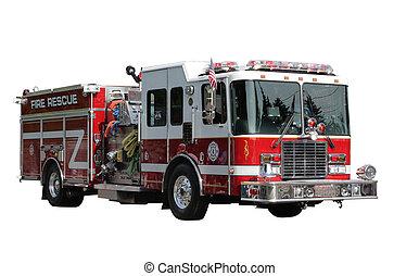camión de fuego, rescate