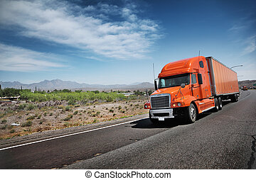 Camión en la autopista