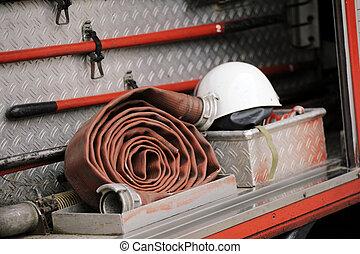 camión, equipo de lucha contra el fuego
