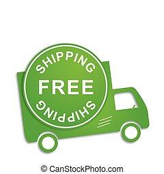 camión, libre, envío