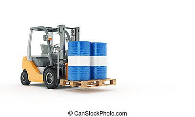 Camión montacargas moderna con metal ba