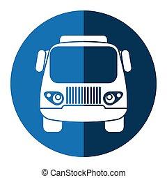 Camión pequeño transporte azul