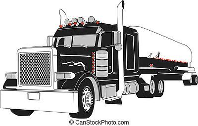camión petrolero, semi
