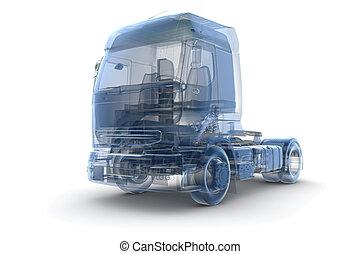 camión, radiografía