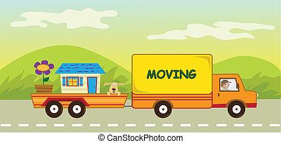 Camión y remolque