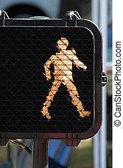 caminata, señal