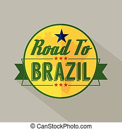 Camino a la etiqueta Brasil.