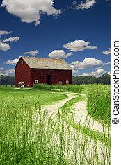 Camino a la granja