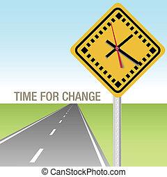 Camino a tiempo para cambiar de señal