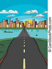 Camino a una ciudad