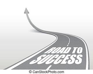 Camino al éxito de las palabras en carretera