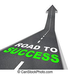 Camino al éxito, flecha arriba