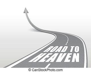Camino al cielo palabras en carretera