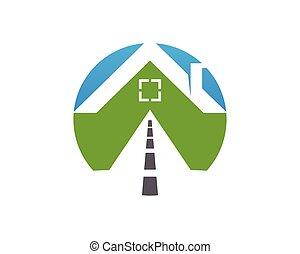 Camino al logotipo de la casa