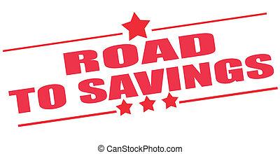 Camino al sello de ahorro