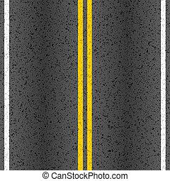 Camino asfalto con líneas de marca