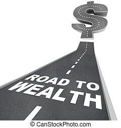 camino, calle, -, riqueza, palabras