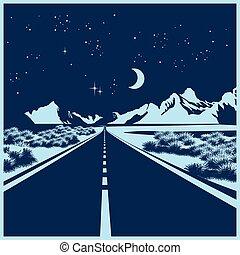Camino nocturno