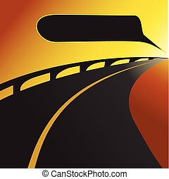 Camino o carretera vector de fondo I