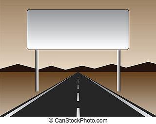 Camino vacío - cartelera vacía