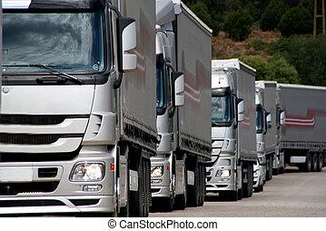 Camiones de plata