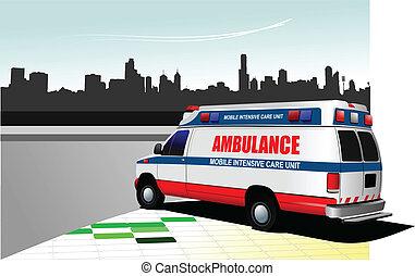 Camioneta de ambulancias de la ciudad