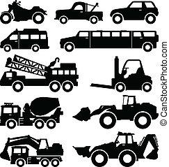 Camioneta excavadora, camión de limusina