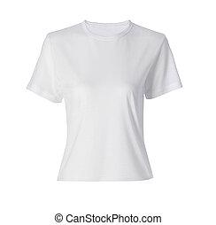 Camisa blanca siolada en blanco
