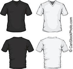 Camisa de cuello-V