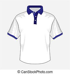 Camisa de polo blanco con B oscuro