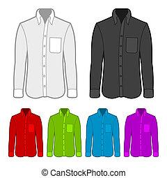 Camisa de varios colores.