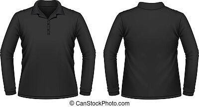 Camisa larga y negra