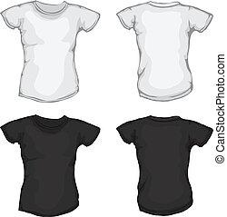 Camisas blancas y negras