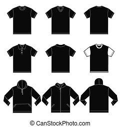 Camisas negras plantilla