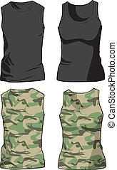 Camisas negras y militares. Vector