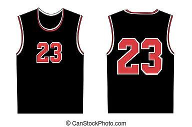 camiseta, baloncesto, ilustración, deporte, diseño
