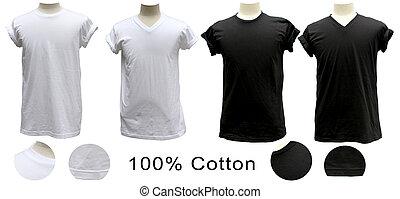 Camiseta blanca, cuello redondo