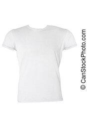 Camiseta blanca en blanco
